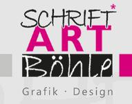 SCHRIFT ART Böhle Schriftart Böhle ist seit vielen Jahren stark in der Herstellung und Anbringung von hochwertigen Drucken im Siebdruckverfahren und Großformatigem Digitaldruck.